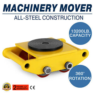 Industrial Machinery Mover With 360 rotation Cap 13200lbs 6t Usstock