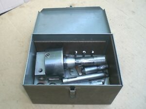 Bridgeport No 2 Boring Head R8 Shank With Boring Bars And Metal Case