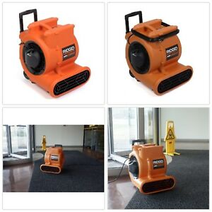 Air Mover 1625 Cfm 3 Speed Heavy Duty Motor 3 Amp Powerful Airflow Built In Cord