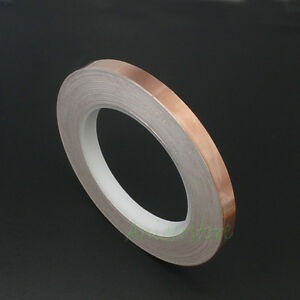 5pcs 10mm X 33m 108ft Guitar Emi Shielding Single Conductive Copper Foil Tape