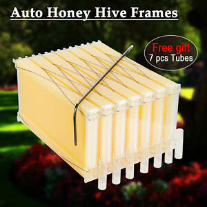New 7pcs Automatic Bee Comb Honey Hive Frames Honey Harvest Beekeeping Beehive