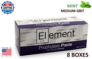Element Prophy Paste Cups Mint Medium Grit 200 box Dental W fluoride 8 Boxes