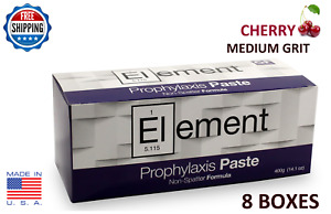 Element Prophy Paste Cups Cherry Medium 200 box Dental W fluoride 8 Boxes