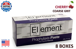 Element Prophy Paste Cups Cherry Coarse 200 box Dental W fluoride 8 Boxes