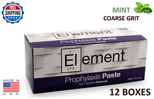 Element Prophy Paste Cups Mint Coarse 200 box Dental W fluoride 12 Boxes