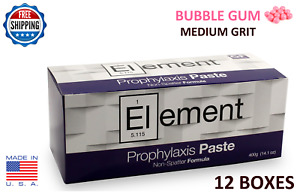 Element Prophy Paste Cups B gum Medium Grit 200 box Dental W fluoride 12 Boxes