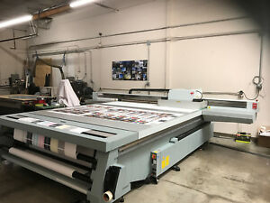 Canon Oce Arizona 660xt Wide Format Flatbed Uv Printer used Great Condition