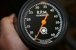 Barbour Stockwell 6k 6 000 Mechanical 3 3 8 Tach Tachometer A 33 Cy