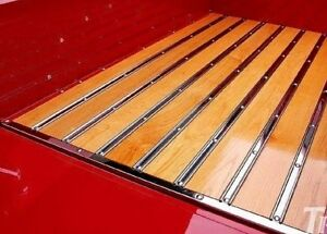 Late 1950 1951 1952 1953 1954 Ford Pickup Truck Bed Skid Strips Stainless