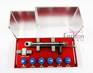 Universal Adapter And Dental Implant Torque Wrench Driver Kit Straumann New