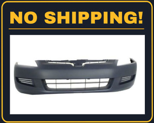 New Front Bumper Cover Fit Honda Accord Coupe 4cyl Engine 2003 2005 Ho1000211
