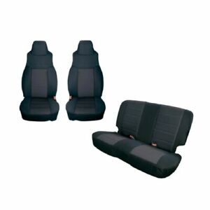 Rugged Ridge 13292 01 Black Front Rear Seat Covers For Jeep Wrangler Tj