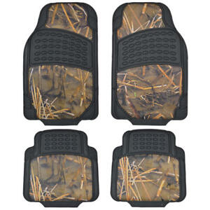 Stylish 2 Tone Camo Rubber Car Floor Mats Waterproof All Weather Protection
