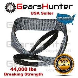 4 X 20 2 Ply Nylon Web Sling Lift Tow Strap Heavy Duty 44000 Lbs