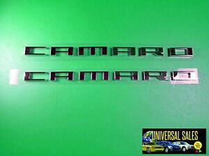 Pair Chevrolet Gm Oem Camaro Emblems Badges Nameplates 2010 2015 Fender Oem New