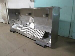 quality H d Commercial Ss 120 w nsf Lighted Type 1 Restaurant Exhaust Hood