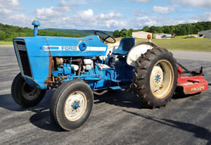 1975 Ford 2600 36hp Tractor With Brush Hog 285 5 Rotary Cutter