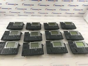 Lot Of 12x Cisco Telecom System Cp 7942g With Head Set Qty