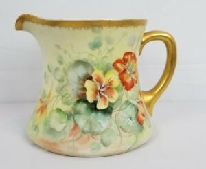 Antique French Limoges Pitcher Large