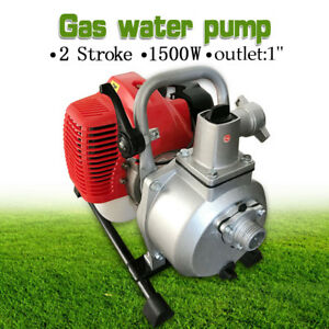 Water Transfer Pump 1 2 Stroke Portable Petrol High Flow Irrigation Pumping Gas