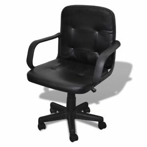 Luxury Leather Office Chair Height Adjustable Swivel Office Executive Chair