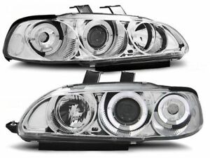 Honda Civic 1991 1992 1993 1994 1995 2d 3d Headlights Lpho01 Halo Chrome