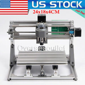 3 Axis Diy Cnc 24x18cm Cnc Pcb Milling Carving Engraving Machine 2500mw Laser