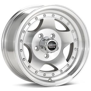 4 15 Inch American Racing Ar23 15x8 Machined Rims Wheels 5x5 0 5x127 Ar235873