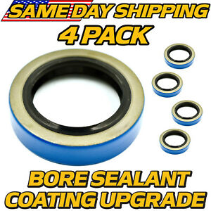 4 Pack 171255tb Double Lip Seal 3500lb Trailer Axle 84 Spindle W bore Sealant