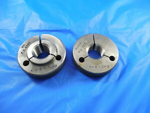 1 8 Nc 3 Thread Ring Gages 1 00 Go No Go P d s 9134 9188 Inspection