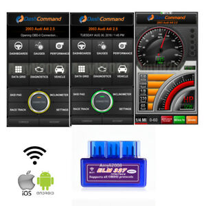Mini Elm327 Wifi Obd2 Car Code Reader Diagnostics Scanner For Iphone Android