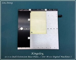 Kingsley Machine 10 X 10 Inch Extension Base plate Hot Foil Stamping Machine
