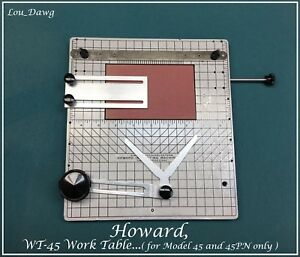 Howard Machine Personalizer Wt 45 Work Table Hot Foil Stamping Machine
