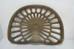 Antique Deering Cast Iron Tractor Implement Seat John Deere Farm Barn Parts Cow