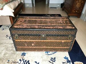 1920s Vintage Louis Vuitton Monogram Steamer Trunk