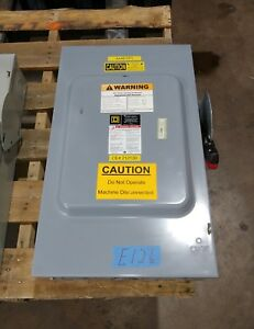 Square D H364 200 Amp 600 Volt Fusible Type 1 Disconnect Safety Switch