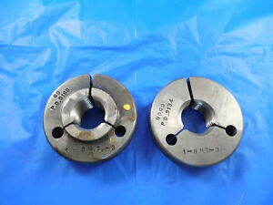 1 8 Nc 3 Thread Ring Gages 1 00 Go No Go P d s 9188 9134 Inspection