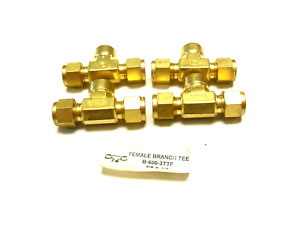 New Lot Of 4 Swagelok B 600 3ttf Female Branch Tee 3 8
