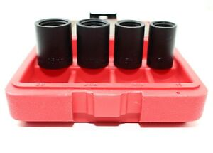 Set Of 4 Lug Nut Wheel Lock Remover Kit 1 2 Sockets 17mm 18 5mm 21 5mm 26mm