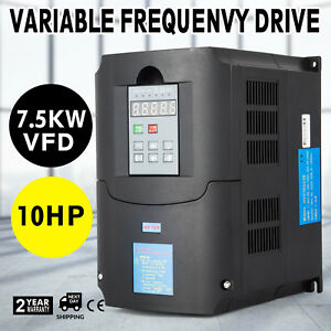 10hp 7 5kw 34a Variable Frequency Drive Vfd Avr Cnc 3 Phase Compressors Spwn