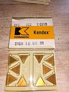 Kennametal Carbide Inserts Tpg 322 Kc810 Tpgn 16 03 08 Qty 10 New In Box