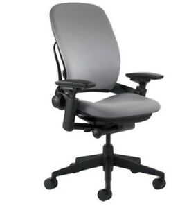 Office Chair Steelcase Leap Chair Gray Fabric