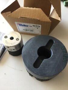 Nib Weiler 86114 4 And 86107 Burr rx Nylox Shell Mill Holder Disc Brush 2 Piece