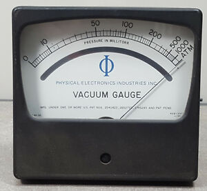 Physical Electronics Vacuum Gauge Vt 6 Mod 0461 Shield Meter 0 1000 Microns Torr