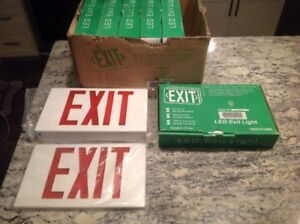 New 6 Pack Led Red Emergency Exit Sign Light Lighting Battery Backup