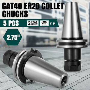 5pc Cat40 Er20 Collet Chucks 2 75 Precision Cnc Holder 20k Rpm Set Local Sale