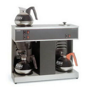 New Bunn 12 Cup Pourover Commercial Coffee Maker Brewer 3 Decanters 1000 Filters