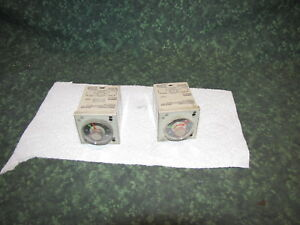 2 Used Omron H3cr f8 Interval Timer 41706 c1