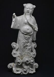 Antique Chinese Export Immortal Figurine 9 5 Inches Tall