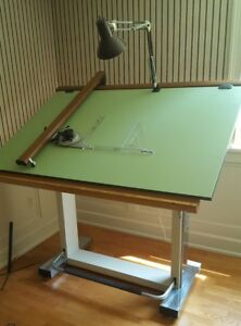 Drafting Table Neolt Made In Italy W Lamp